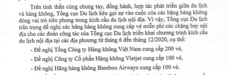 Tổng cục Du lịch xin ba hãng hàng không hỗ trợ 400 vé bay miễn phí để đi công tác - Ảnh 1.