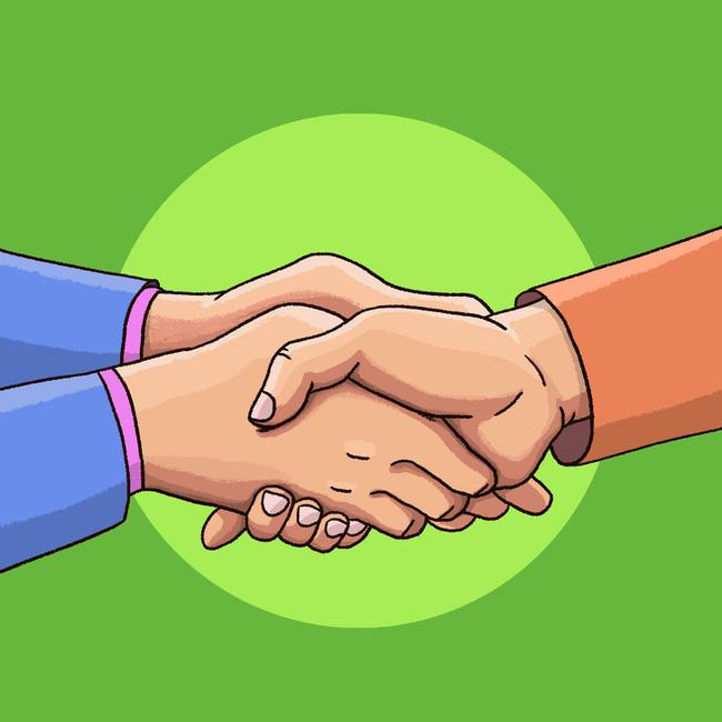Cách bắt tay cũng chỉ ra tính cách của bạn, rằng bạn là người kiểm soát mọi chuyện hay là dễ bị cuốn theo đối phương - Ảnh 1.