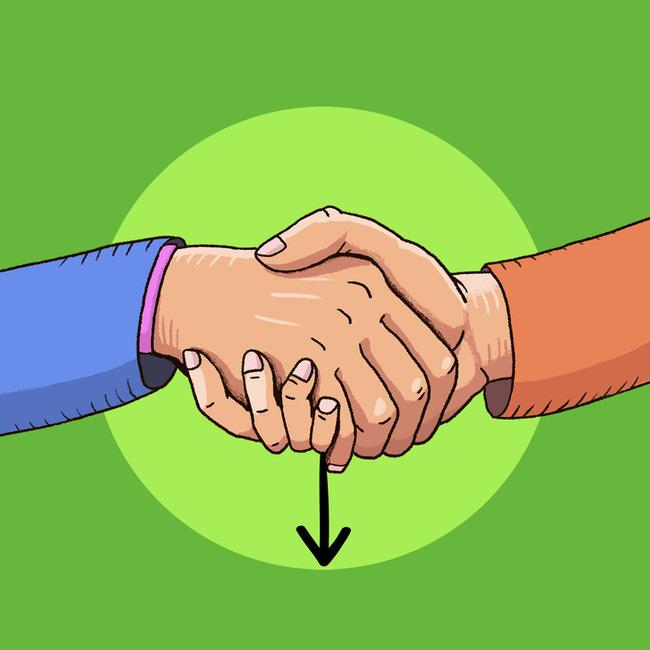 Cách bắt tay cũng chỉ ra tính cách của bạn, rằng bạn là người kiểm soát mọi chuyện hay là dễ bị cuốn theo đối phương - Ảnh 2.