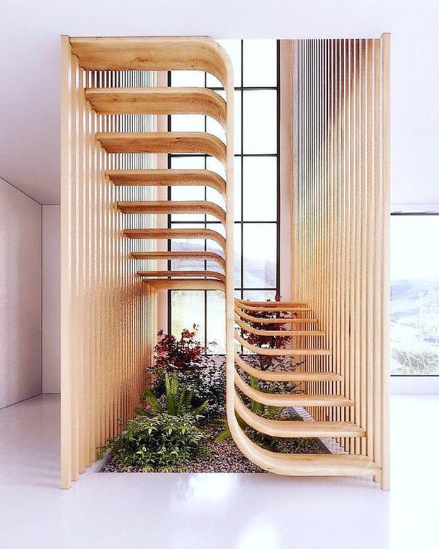 Trong con mắt của kiến trúc sư tài ba, cầu thang cũng có thể biến thành tác phẩm nghệ thuật như thế này đây - Ảnh 1.
