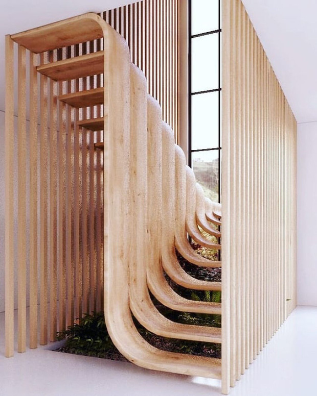 Trong con mắt của kiến trúc sư tài ba, cầu thang cũng có thể biến thành tác phẩm nghệ thuật như thế này đây - Ảnh 2.