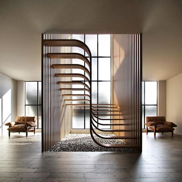 Trong con mắt của kiến trúc sư tài ba, cầu thang cũng có thể biến thành tác phẩm nghệ thuật như thế này đây - Ảnh 8.