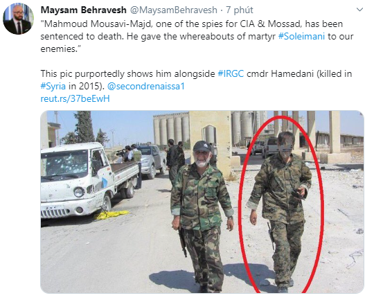 NÓNG: Iran quyết xử tử kẻ chỉ điểm giúp Mỹ ám sát Tướng Soleimani - Con rối của CIA và Mossad? - Ảnh 5.