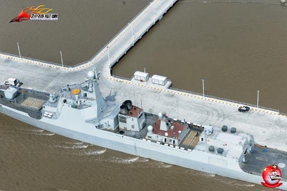 Hình ảnh tàu khu trục 052D với hệ thống phóng tên lửa thẳng đứng mới.