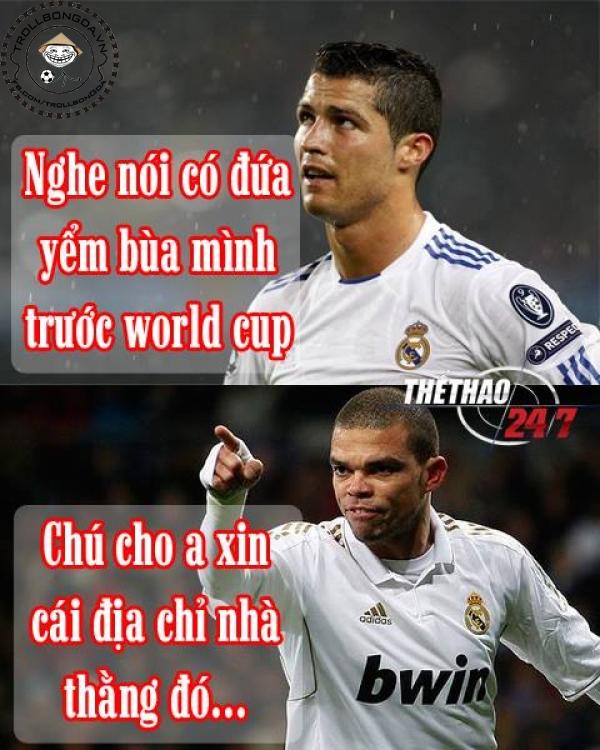 Pepe muốn cứu Ronaldo khỏi phù thủy ám