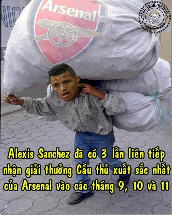 Sanchez đang rất vất vả gánh cả đội Arsenal
