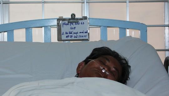 Bà Mai đang được điều trị tại Bệnh viện Đa khoa tỉnh Vĩnh Long