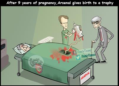 Mang nặng đẻ đau 9 năm mới được 1 cái cúp cho Arsenal