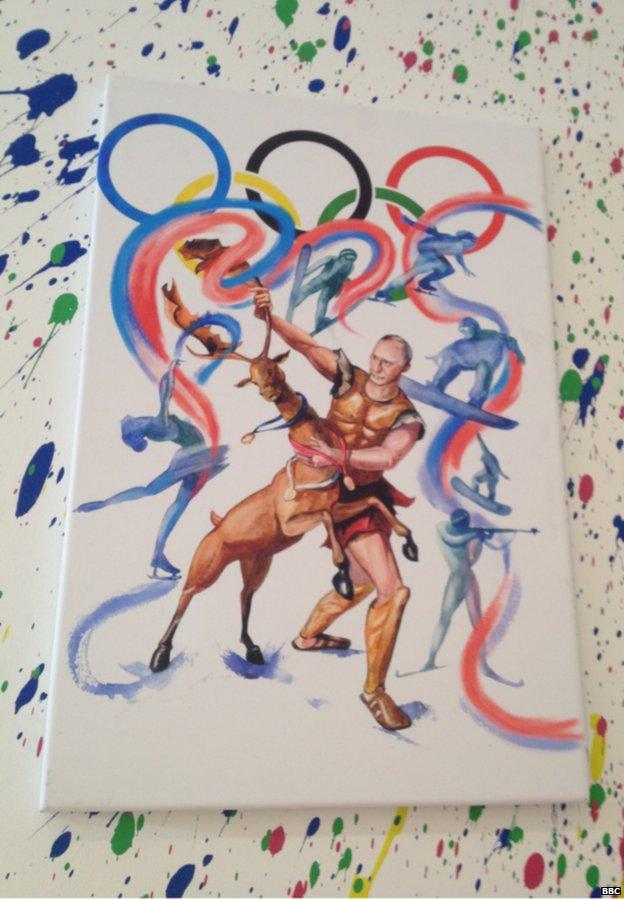Putin được ca ngợi như một anh hùng tại Thế vận hội mùa đông Sochi 2014.