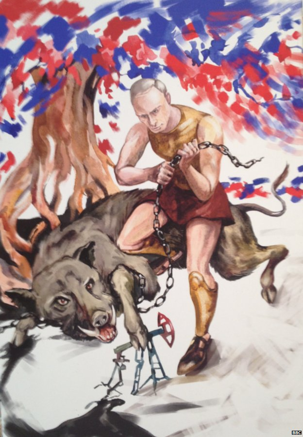 Putin đang chiến đấu chống lại những con thú - những đầu sỏ chính trị. Khi lên nắm quyền năm 2000, ông Tổng thống Nga đã tuyên bố sẽ diệt trừ tầng lớp đầu sỏ chính trị của Nga.