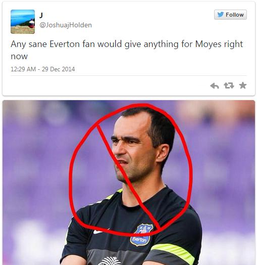 Các fan Everton đã sẵn sàng tìm mọi cách để đưa Moyes trở lại
