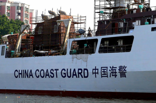 Tàu hải cảnh mới của Trung Quốc có nhiều thay đổi ở phần cấu trúc thượng tầng so với tàu Type 056 nguyên bản