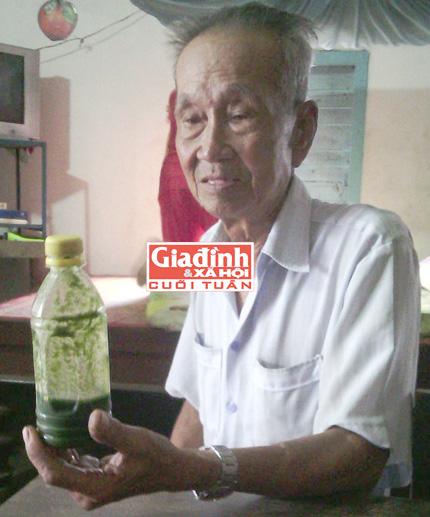 Ông Lê Văn Cảnh khỏe mạnh và minh mẫn nhờ uống lá trinh nữ hoàng cung.