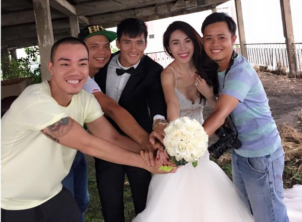 Hé lộ hậu trường chụp ảnh cưới của Công Vinh - Thủy Tiên 1