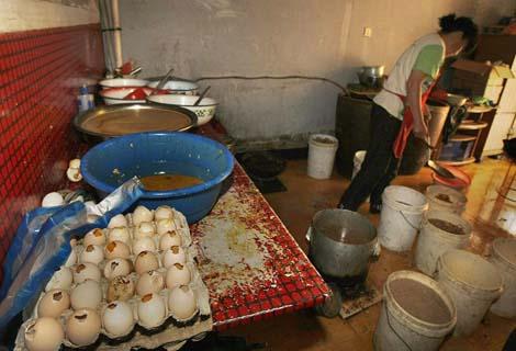 Cảnh báo trứng vịt lộn Trung Quốc tràn vào Việt Nam