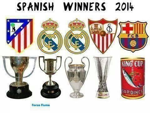 Real, Atletico, thậm chí Sevilla cũng có cúp còn Barca chỉ có cá hộp