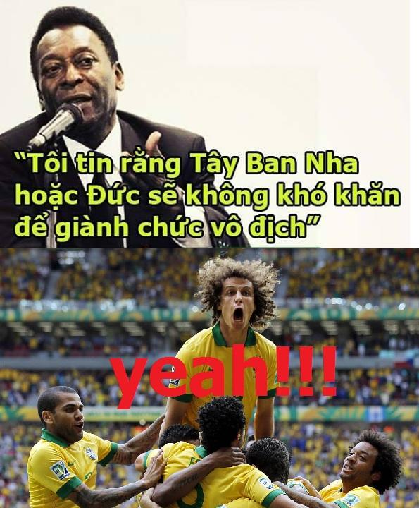 Nổi tiếng là dự đoán sai, Vua bóng đá Pele đã chọn ngay 2 đối thủ sừng sỏ TBN và Đức để ám