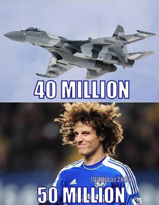 David Luiz còn đắt hơn cả máy bay chiến đấu
