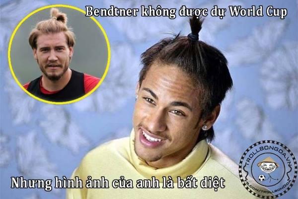 Neymar cũng thầm mến Bendtner