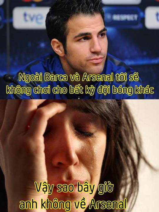 Fan Arsenal vẫn buồn vì Fabregas