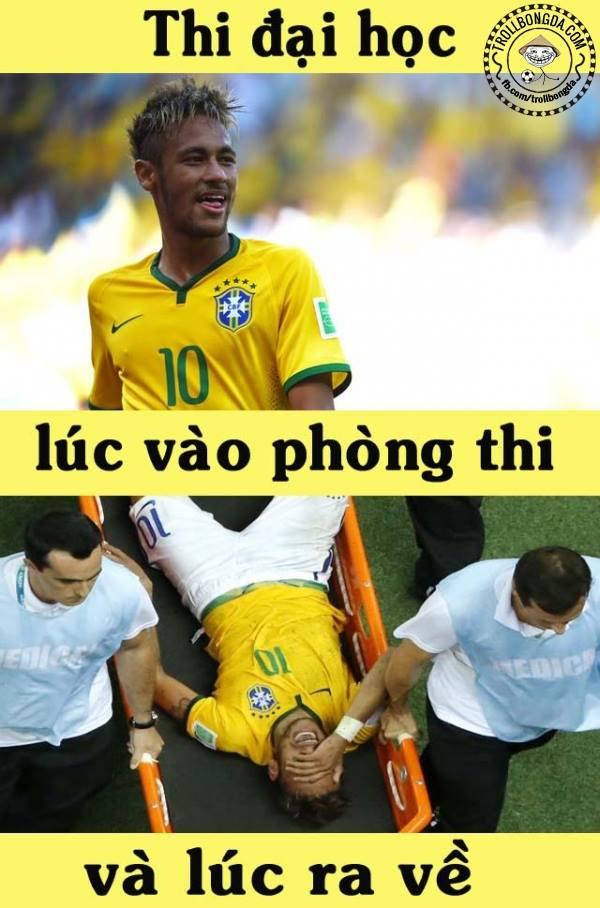 Đúng lúc quan trọng nhất thì... Quá đen cho Neymar
