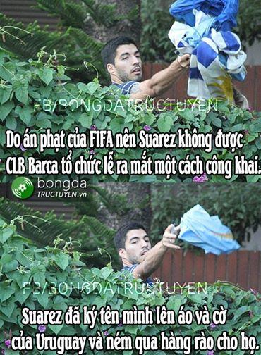 Suarez chơi kiểu này thì FIFA chịu