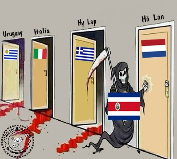 Tử thần Costa Rica đến gõ cửa Hà Lan rồi