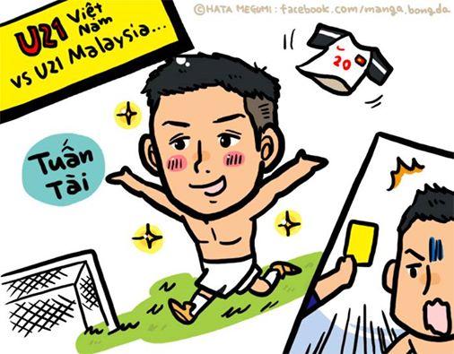 Tháng trước, nữ phóng viên từng được vẽ U21 Việt Nam thắng U21 Malaysia. Hi vọng lịch sử sẽ lặp lại.