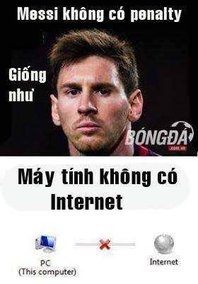 Messi bị troll lên troll xuống