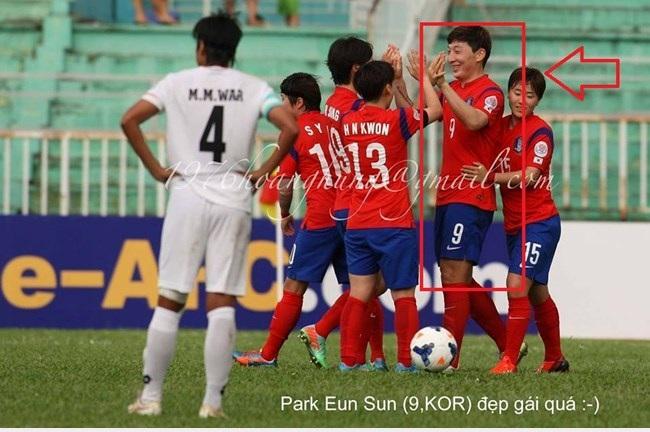 Cầu thủ nữ Hàn Quốc???