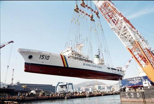 Hạ thủy tàu tuần tra lớp Jemin số hiệu 1510, gia nhập biên chế năm 2007