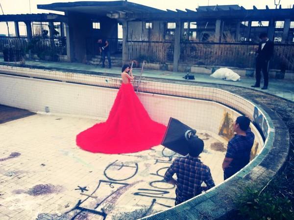 Hé lộ hậu trường chụp ảnh cưới của Công Vinh - Thủy Tiên 16