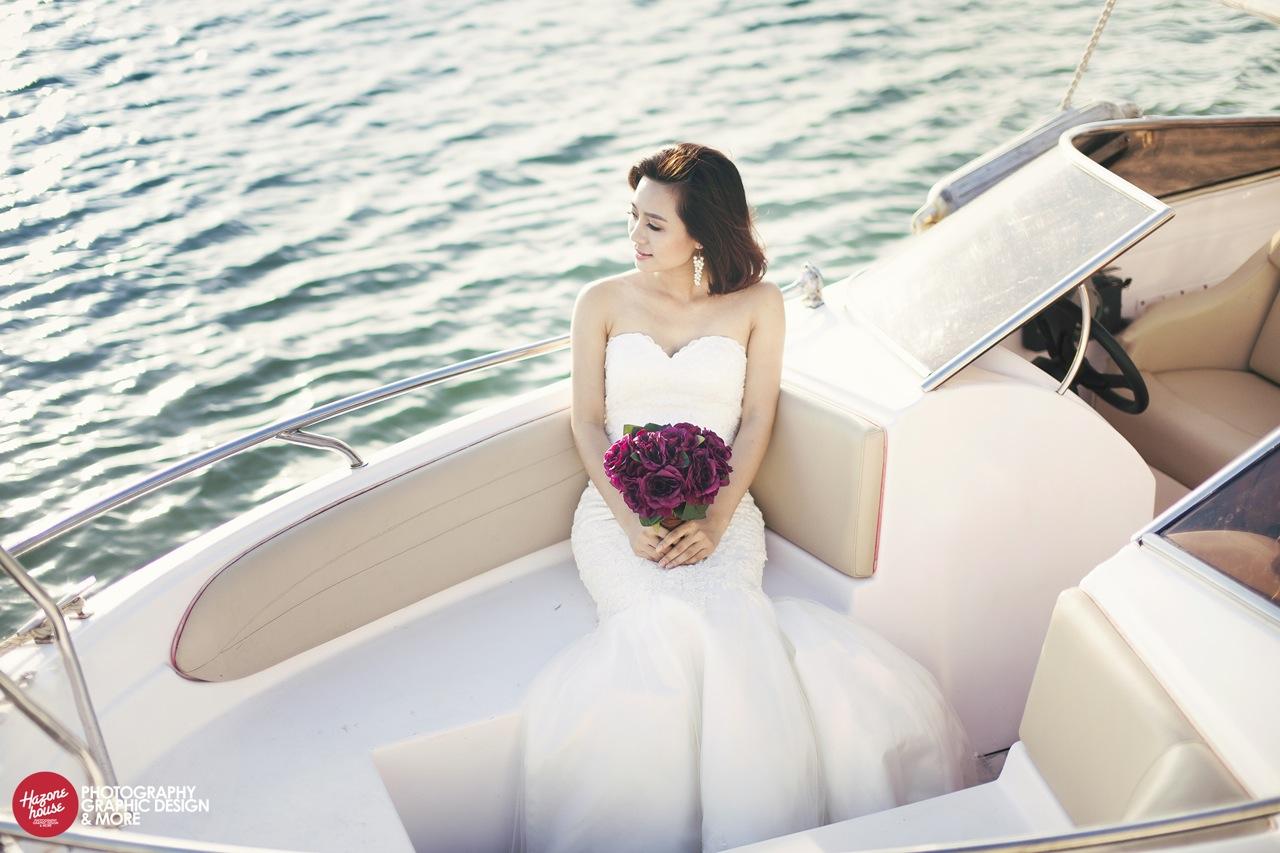 Cô trong tươi tắn, rạng rỡ trong bộ ảnh cưới