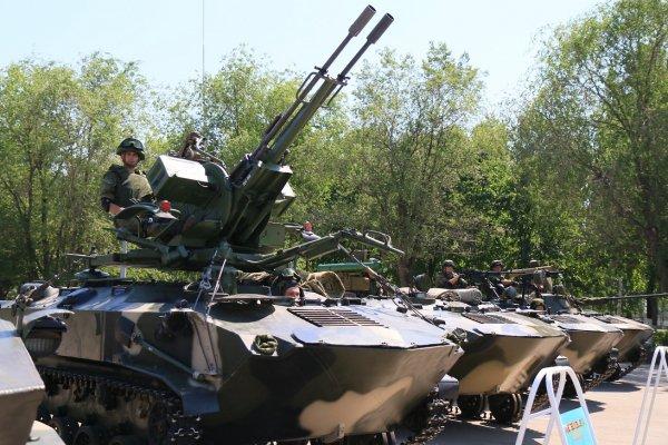 Phiên bản BTR-3D với pháo ZU-23-2.