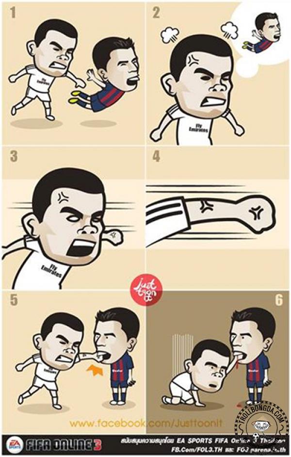 Dám đấu với Suarez hả Pepe