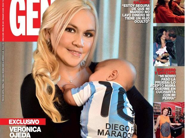 Veronica Ojeda và con trai Maradona