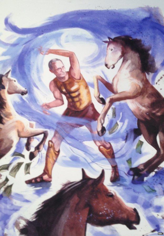 Putin chiến đấu đẩy lùi những con ngựa tham nhũng.