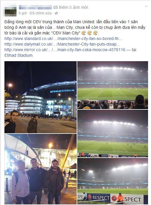 Fan Việtđính chính lại thông tin trên facebook cá nhân