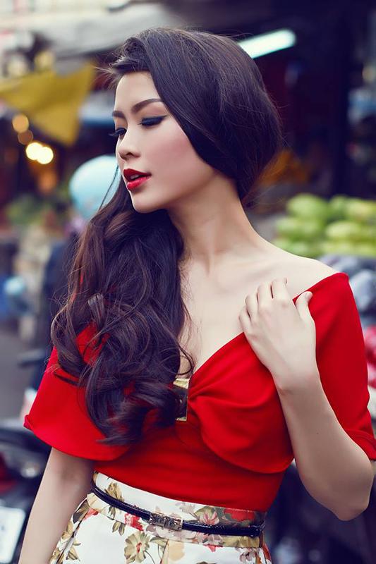 Gương mặt Diễm Trangđược đánh giá là xinh đẹp nhất cuộc thi