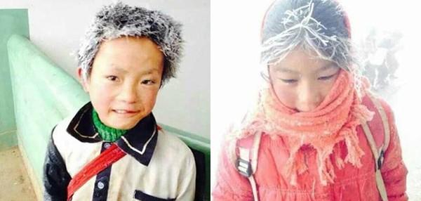 Xót xa hình ảnh những đứa trẻ đóng băng khi tới trường trong cái lạnh -5 độ C 2