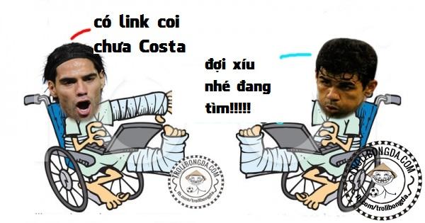 Đáp án Costa và Falcao ở đâu đêm qua