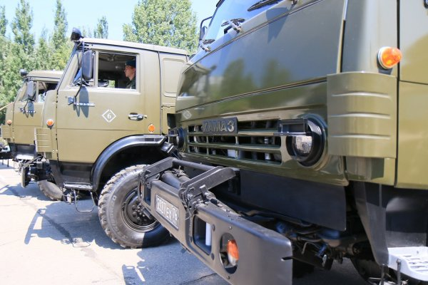 Xe sửa chữa MTO-AM dựa trên khung gầm xe tải KamAZ-5350.