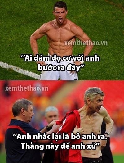 Thậm chí CR7 còn bị Wenger thách thức