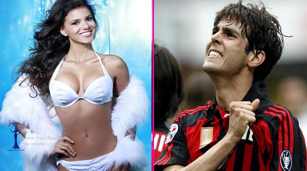 Kaka bị nghi ngờ quan hệ với hoa hậu đồng hương Jakelyne Oliveira