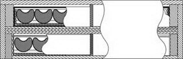 Sơ đồ kết cấu module giáp phản ứng nổ Nozh chống đạn xuyên lõm 2 tầng
