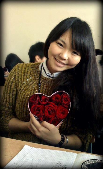 Một nữ sinh Mông Cổ.