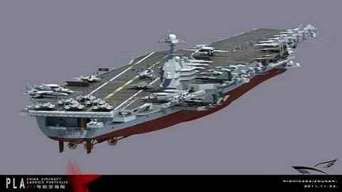 Mô hình tàu sân bay tương lai Trung Quốc do dân mạng tự chế