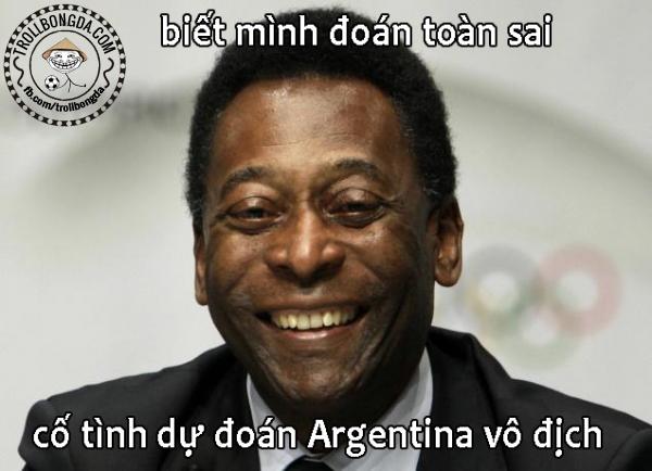 Pele troll thành công Argentina