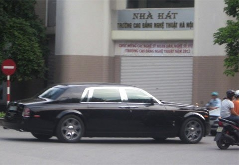 Chiếc xe bị bắt gặp trên phố phường Hà Nội.