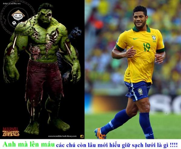 Hulk - bóng đá - quả thực rất giống Hulk - phim ảnh